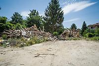 Amatrice (RI): anche nel comune di Amatrice la ricostruzione dopo un anno procede a rilento.  Photo di Adamo Di Loreto/BuenaVista*photo