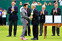 Rory McILROY (IRE) receives the trophy  during the presentation ceremony of the 143rd Open Championship played at Royal Liverpool Golf Club, Hoylake, Wirral, England. 17 - 20 July 2014 (Picture Credit / Phil Inglis)