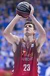 San Pablo Burgos Goran Huskic during Liga Endesa match between San Pablo Burgos and Gipuzkoa Basket at Coliseum Burgos in Burgos, Spain. December 30, 2017. (ALTERPHOTOS/Borja B.Hojas)