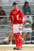 July 14, 2009:  Catcher Blair Carson of the GCL Red Sox during a game at Boston Red Sox Training Complex in Fort Myers, FL.  The GCL Red Sox are the Gulf Coast Rookie League affiliate of the Boston Red Sox.  Photo By Mike Janes/Four Seam Images