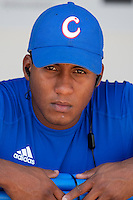 27 September 2009: Alfredo Despaigne of Cuba is seen in the dugout prior to the 2009 Baseball World Cup gold medal game won 10-5 by Team USA over Cuba, in Nettuno, Italy.