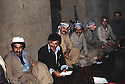 Iran 1979  At the headquarters of KDPI, 2nd left Rahman Haji Ahmadi, 4th Abdul Rahman Ghassemlou, 5th Ghani Bulgarian<br /> Iran 1979  Au QG du PDKI dans les montagnes pendant la lutte armée, de gauche a droite, 2eme, Rahman Hajii Ahmadi, 4eme, Abdul Rahman Ghassemlou, 5eme, Ghani Bulurian<br /> ئیران 1979 , بنکه ی ده فته ری سیاسی حیزبی دیموکراتی کوردستانی ئیران, له لای چه په وه : دووه مین که س حاجی ئه حمه د , چواره مین که س دوکتورعبدالرحمان قاسملوو و پینجه مین که س غه نی بلوریان.