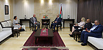 Palestinian Prime minister Rami Hamadallah meets with a Belgian consul, in the West Bank city of Ramallah,on July 20, 2017. Photo by Prime Minister Office