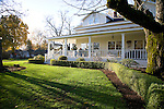 Sheryl and Dan Hall's historic Oregon City home, the White Kellogg House, an 1845 classic revival home set on 8 acres of farmland.