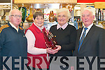 RETIREMENT: Wishing Mary Anne Hartnett all the best on her retirement on her last day of work at Killarney Household shop on New Years eve were l-r: Con Hartnett, Mary O'Sullivan-Darcy, Mary Anne Hartnett and Seamus O'Sullivan-Darcy.   Copyright Kerry's Eye 2008