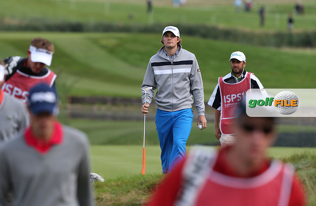 PETER UIHLEIN (USA) during Round One at the 2013 ISPS Handa Wales Open from the Celtic Manor Resort, Newport, Wales. Picture:  David Lloyd / www.golffile.ie