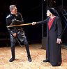 Richard III<br /> by William Shakespeare <br /> at Arcola Theatre, London, Great Britain <br /> Press photocall <br /> 12th May 2017 <br /> <br /> Greg Hicks as Richard <br /> <br /> <br /> Annie Firbank as Duchess of York <br /> <br /> <br /> <br /> <br /> <br /> Photograph by Elliott Franks <br /> Image licensed to Elliott Franks Photography Services
