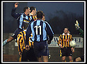 02/11/2002                   Copyright Pic : James Stewart.File Name : stewart-east fife v albion 01.ALBION'S JOHN MCCAIG (PART HIDDEN BEHIND 11) HEADS HOME THE THIRD GOAL.....Payments to :-.James Stewart Photo Agency, 19 Carronlea Drive, Falkirk. FK2 8DN      Vat Reg No. 607 6932 25.Office     : +44 (0)1324 570906     .Mobile  : +44 (0)7721 416997.Fax         :  +44 (0)1324 570906.E-mail  :  jim@jspa.co.uk.If you require further information then contact Jim Stewart on any of the numbers above.........