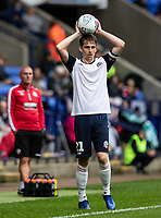 Bolton Wanderers' Harry Brockbank takes a throw in<br /> <br /> Photographer Andrew Kearns/CameraSport<br /> <br /> The EFL Sky Bet Championship - Bolton Wanderers v Coventry City - Saturday 10th August 2019 - University of Bolton Stadium - Bolton<br /> <br /> World Copyright © 2019 CameraSport. All rights reserved. 43 Linden Ave. Countesthorpe. Leicester. England. LE8 5PG - Tel: +44 (0) 116 277 4147 - admin@camerasport.com - www.camerasport.com