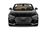 Car photography straight front view of a 2018 Audi A5 Cabriolet Premium Plus 2 Door Convertible