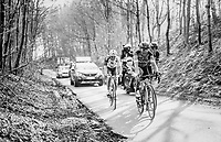 race leaders Greg Van Avermaet (BEL/BMC), Philippe Gilbert (BEL/Quick Step floors) &amp; Oliver Naesen (BEL/AG2R-LaMondiale) up the Karnemelkbeekstraat<br /> <br /> 60th E3 Harelbeke (1.UWT)<br /> 1day race: Harelbeke &rsaquo; Harelbeke - BEL (206km)
