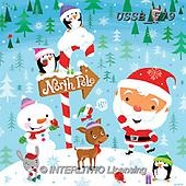 Sarah, CHRISTMAS SANTA, SNOWMAN, WEIHNACHTSMÄNNER, SCHNEEMÄNNER, PAPÁ NOEL, MUÑECOS DE NIEVE, paintings+++++XmasGang-16-A,USSB579,#X#