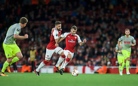 Jack Wilshere of Arsenal on the ball  during the UEFA Europa League match between Arsenal and FC Koln at the Emirates Stadium, London, England on 14 September 2017. Photo by Andrew Aleks.