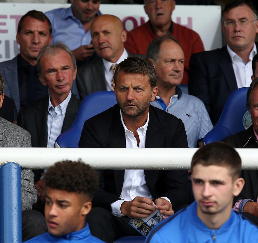 Former Aston Villa and Tottenham Hotspur manager Tim Sherwood is all smiles before kick off<br /> <br /> Photographer David Shipman/CameraSport<br /> <br /> The EFL Sky Bet League One - Peterborough v Swindon Town - Saturday 3 September 2016 -  ABAX Stadium - Peterborough<br /> <br /> World Copyright &copy; 2016 CameraSport. All rights reserved. 43 Linden Ave. Countesthorpe. Leicester. England. LE8 5PG - Tel: +44 (0) 116 277 4147 - admin@camerasport.com - www.camerasport.com