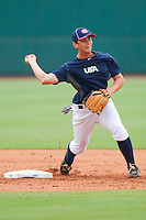 Shortstop Marcus Littlewood #53 during the USA Baseball 18U National Team Trials at the USA Baseball National Training Center on June 30, 2010, in Cary, North Carolina.  Photo by Brian Westerholt / Four Seam Images