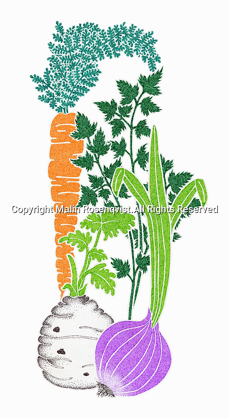 Fresh vegetable ingredients