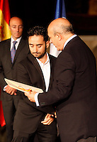 Education and Culture Minister of Spain gives the National Cinema Award to director Juan Antonio Bayona during the 61 San Sebastian Film Festival, in San Sebastian, Spain. September 21, 2013. (ALTERPHOTOS/Victor Blanco) /NortePhoto