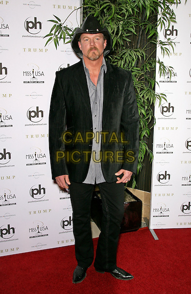 TRACE ADKINS.2010 Miss USA Pageant at the Planet Hollywood Resort Hotel and Casino, Las Vegas, Nevada, USA..May 16th, 2010.full length suit blue shirt black hat goatee facial hair .CAP/ADM/MJT.© MJT/AdMedia/Capital Pictures.
