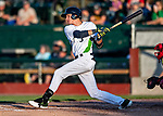 24 August 2019: Vermont Lake Monsters infielder Logan Davidson in action against the Lowell Spinners at Centennial Field in Burlington, Vermont. The Lake Monsters fell to the Spinners 3-2 in NY Penn League action. Mandatory Credit: Ed Wolfstein Photo *** RAW (NEF) Image File Available ***