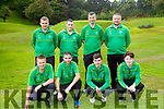 The Kerry Pitch and Putt team who played in the All Ireland championship in Killarney on Saturday front row l-rJason O'Regan Tralee, Declan McCarron Listowel, Jason O'Brien Deerpark, Jason Cregan Tralee, Back row: Damian Fleming Deerpark, James Dignan Castleisland, John McGrath Deerpark, Aidan O'Connor Castleisland