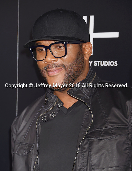 HOLLYWOOD, CA - OCTOBER 17: Director/writer/actor Tyler Perry attends the premiere of Lionsgate's 'Boo! A Madea Halloween' at the ArcLight Cinerama Dome on October 17, 2016 in Hollywood, California.