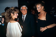 February 6th 1,978. Manhattan, New York City, New York State, USA .American actors Farrah Fawcett, Cary Grant and model Margaux Hemingway attend the Faberge party held at Studio 54.