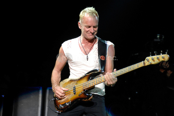 The Police performing live at Madison Square Garden in New York City on August 1, 2007.  © David Atlas / MediaPunch