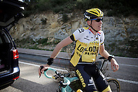 Robert Gesink (NLD/LottoNL-Jumbo) taking a brake while training up Coll de Rates (Alicante, Spain)<br /> <br /> January 2016 Training Camps