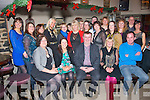 Dan Horan (seated centre) Health food stores, took his staff to Kirby's Brogue, Tralee last Saturday night for their annual Christmas party.
