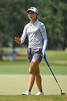 Lydia Ko (NZL) after sinking her birdie putt on 9 during round 4 of the 2019 US Women's Open, Charleston Country Club, Charleston, South Carolina,  USA. 6/2/2019.<br /> Picture: Golffile | Ken Murray<br /> <br /> All photo usage must carry mandatory copyright credit (© Golffile | Ken Murray)