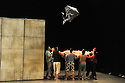 """© Jane Hobson. LOCATION, UK. 21/04/2011. Groupe Acrobatique de Tangiers open in """"Chouf Ouchouf""""  (Arabic for """"Look but take a real good look!"""") at the Queen Elizabeth Hall, Southbank Centre, London. The show gives audiences a daily snapshot of life in Tangier's crowded, old quarter. Photo credit should read: JANE HOBSON"""