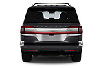 Straight rear view of a 2019 Lincoln Navigator L Reserve 5 Door Wagon stock images