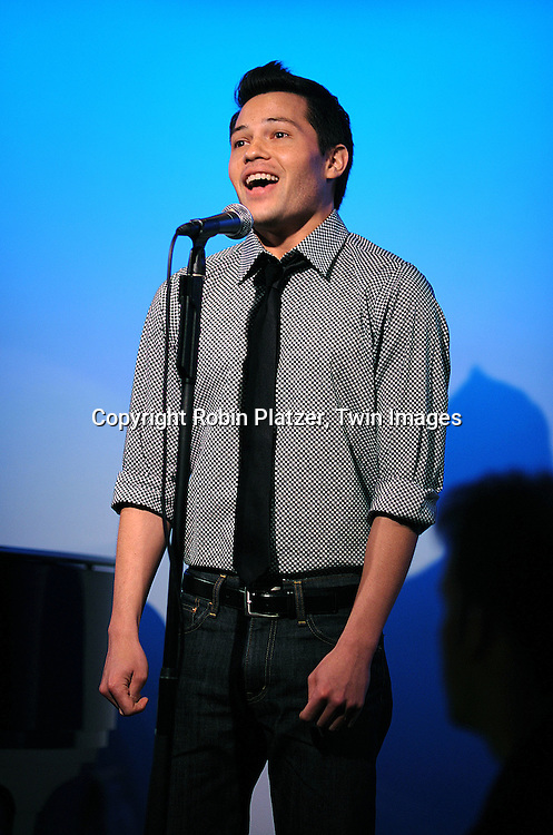 "One Life To Live actor Jason Tam singing..at The ""Kathy Brier and Friends"" concert at The Metropolitan Room in New York City benefitting the Eos ..Theatre Company on May 16, 2008.....Robin Platzer, Twin Images"