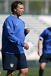 Bruce Arena, head coach, on Monday, April 10th, 2006 at SAS Stadium in Cary, North Carolina. The United States Men's National Team practiced the day before playing an international friendly against Jamaica.