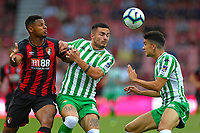 Lys Mousset of AFC Bournemouth left challenges for the ball during AFC Bournemouth vs Real Betis, Friendly Match Football at the Vitality Stadium on 3rd August 2018