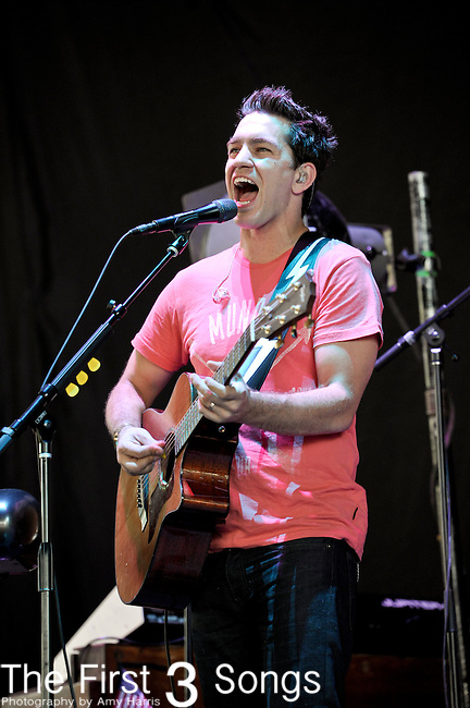 Andy Grammer performs at the PNC Pavilion at Riverbend in Cincinnatti, Ohio