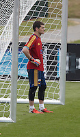 POLAND - Gniewino - 08 JUNE 2012 - Spanish National Team Training Session at Gniewino. Captain and first goalkeeper Iker Casillas.