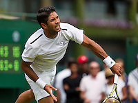 England, London, 23.06.2014. Tennis, Wimbledon, Fernando Verdasco (ESP)<br /> Photo:Tennisimages/Henk Koster