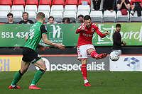 Jake Forster-Caskey of Charlton Athletic in action during Charlton Athletic vs Scunthorpe United, Sky Bet EFL League 1 Football at The Valley on 14th April 2018