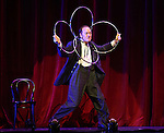 Charlie Frye, The Eccentric from 'The Illusionists' during a press preview of 'The Illusionists - Turn of the Century' at The Theater Center on November 29, 2016 in New York City.
