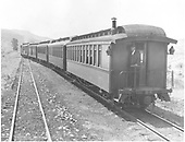 Departing Carracas.<br /> D&amp;RGW  Carracas, CO  Taken by Vollrath, Harold K. - 8/1940