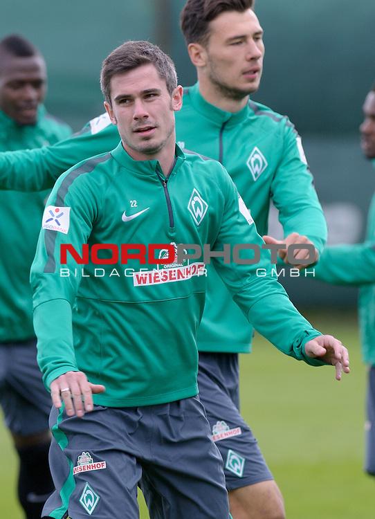01.05.2015, Trainingsgelaende, Bremen, GER, 1.FBL, Training Werder Bremen, im Bild Fin Bartels (Bremen #22)<br /> <br /> Foto &copy; nordphoto / Frisch