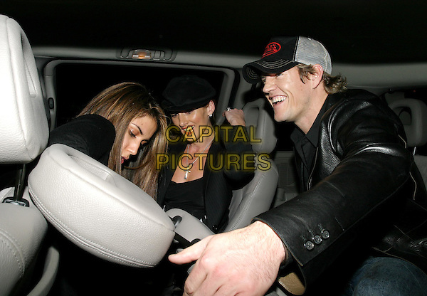 LEILANI & BOYFRIEND.leaving 10 Rooms nightclub.car cab taxi.www.capitalpictures.com.sales@capitalpictures.com.© Capital Pictures.