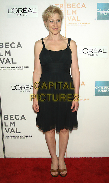 """EDIE FALCO .2009 Tribeca Film Festival - Premiere of """"Serious Moonlight"""" at the Tribeca Performing Arts Center, New York, NY, USA, April 25th 2009..full length black dress brown open toe shoes sandals .CAP/LNC/TOM.©LNC/Capital Pictures"""