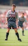 Dennis Irwin of Manchester Utd - Barclays Premier League - Aston Villa v Manchester Utd - Villa Park Stadium - Birmingham - England - 19th August 1995 - Picture Sportimage