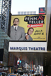 'Penn & Teller on Broadway' - Theatre Marquee