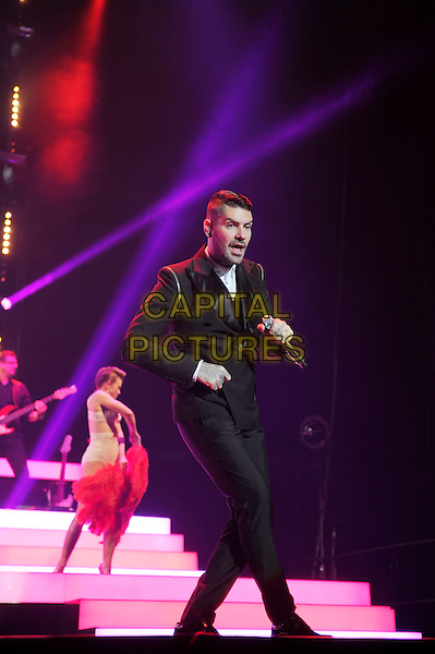 LONDON, ENGLAND - December 21: Shane Lynch of Boyzone performs in concert at Wembley Arena on December 21st, 2013 in London, England. UK.<br /> CAP/MAR<br /> &copy; Martin Harris/Capital Pictures