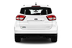 Straight rear view of a 2018 Ford C-Max PHEV SE 5 Door Mini Van stock images
