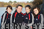 Maura O'Donnell, Claire Howard, Lilith Waljer and Sophie Costello Tralee Rowing club at the Killorglin Head of the River on Saturday