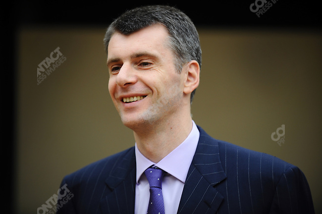 Mikhail Prokhorov, the Russian businessman and sports enthusiast, in his Moscow office. Russia, April 23, 2010.